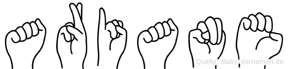 Ariane in Fingersprache für Gehörlose