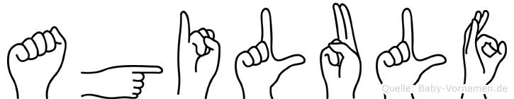 Agilulf im Fingeralphabet der Deutschen Gebärdensprache