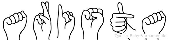 Arista in Fingersprache für Gehörlose