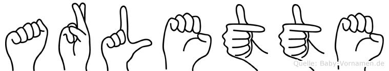Arlette in Fingersprache für Gehörlose