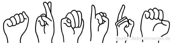 Armide im Fingeralphabet der Deutschen Gebärdensprache