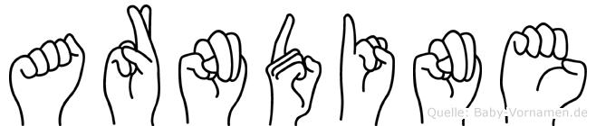 Arndine in Fingersprache für Gehörlose