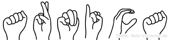 Arnica in Fingersprache für Gehörlose