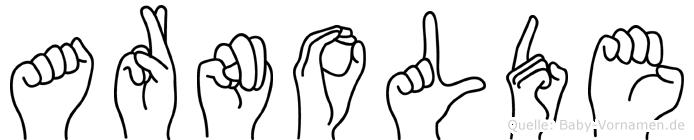 Arnolde in Fingersprache für Gehörlose