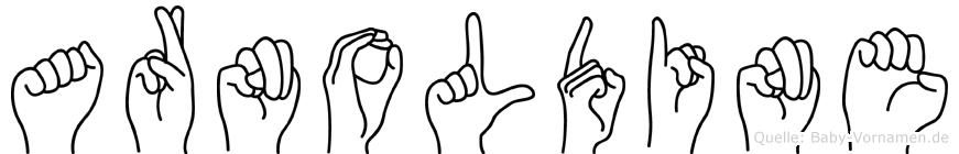 Arnoldine in Fingersprache für Gehörlose