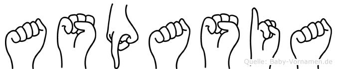 Aspasia in Fingersprache für Gehörlose
