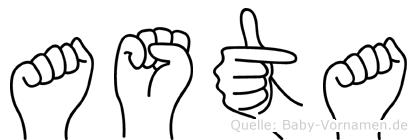 Asta in Fingersprache für Gehörlose