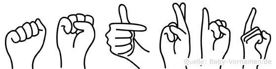 Astrid in Fingersprache für Gehörlose