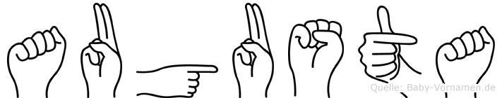 Augusta in Fingersprache für Gehörlose