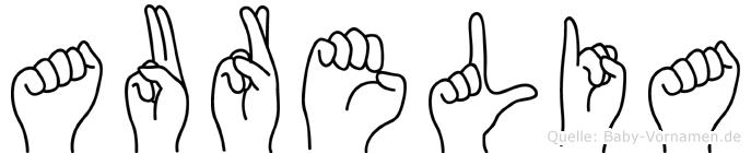 Aurelia in Fingersprache für Gehörlose