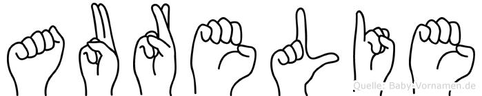 Aurelie im Fingeralphabet der Deutschen Gebärdensprache