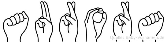 Aurora in Fingersprache für Gehörlose