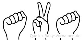 Ava in Fingersprache für Gehörlose