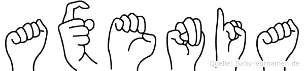 Axenia in Fingersprache für Gehörlose