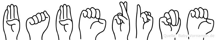 Baberine in Fingersprache für Gehörlose