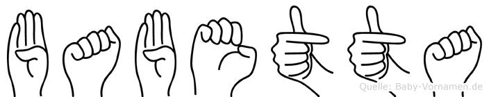Babetta in Fingersprache für Gehörlose
