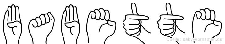 Babette in Fingersprache für Gehörlose