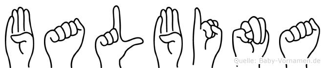Balbina im Fingeralphabet der Deutschen Gebärdensprache