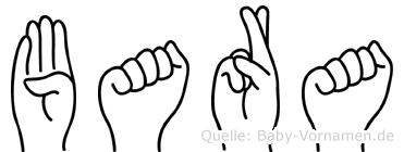 Bara im Fingeralphabet der Deutschen Gebärdensprache