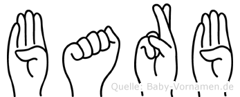 Barb im Fingeralphabet der Deutschen Gebärdensprache
