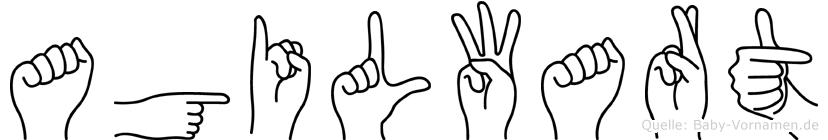 Agilwart in Fingersprache für Gehörlose