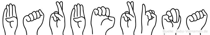 Barberina im Fingeralphabet der Deutschen Gebärdensprache