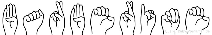 Barberine im Fingeralphabet der Deutschen Gebärdensprache