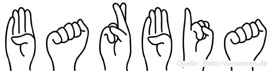 Barbia im Fingeralphabet der Deutschen Gebärdensprache