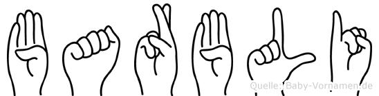 Barbli im Fingeralphabet der Deutschen Gebärdensprache