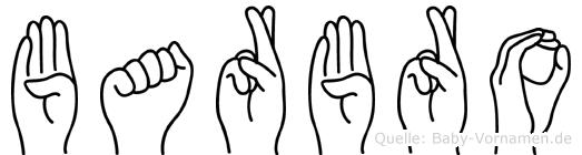 Barbro im Fingeralphabet der Deutschen Gebärdensprache