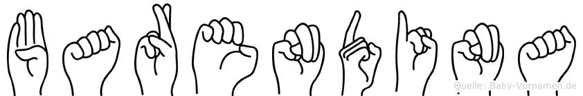 Barendina in Fingersprache für Gehörlose