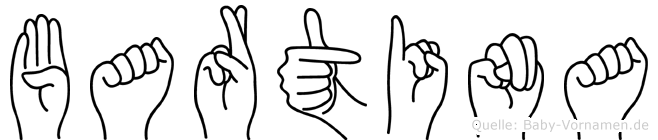 Bartina in Fingersprache für Gehörlose
