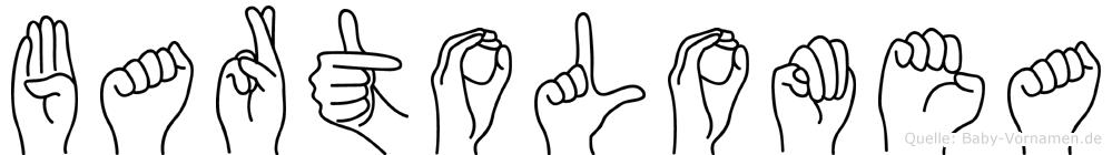 Bartolomea im Fingeralphabet der Deutschen Gebärdensprache