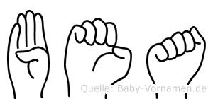 Bea im Fingeralphabet der Deutschen Gebärdensprache