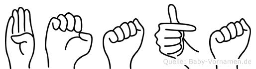 Beata in Fingersprache für Gehörlose