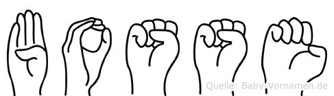 Bosse in Fingersprache für Gehörlose