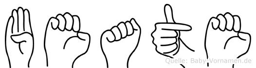 Beate in Fingersprache für Gehörlose