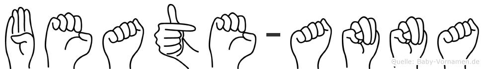 Beate-Anna im Fingeralphabet der Deutschen Gebärdensprache