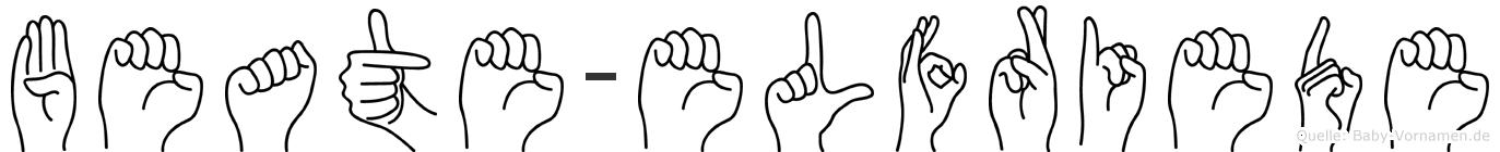 Beate-Elfriede im Fingeralphabet der Deutschen Gebärdensprache