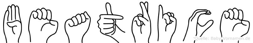 Beatrice in Fingersprache für Gehörlose