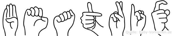 Beatrix in Fingersprache für Gehörlose