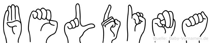 Beldina in Fingersprache für Gehörlose