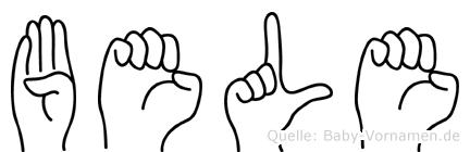 Bele in Fingersprache für Gehörlose