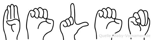 Belen in Fingersprache für Gehörlose