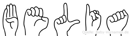 Belia in Fingersprache für Gehörlose