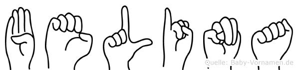 Belina in Fingersprache für Gehörlose