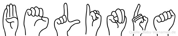 Belinda im Fingeralphabet der Deutschen Gebärdensprache