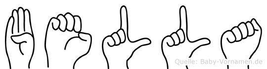 Bella in Fingersprache für Gehörlose