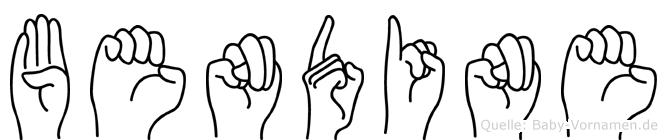 Bendine im Fingeralphabet der Deutschen Gebärdensprache