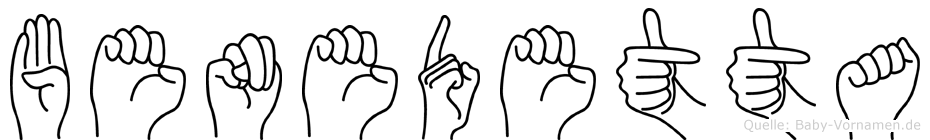 Benedetta im Fingeralphabet der Deutschen Gebärdensprache
